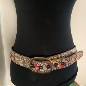 """Lucky Brand 42.5"""" BohoFloralPatch Minimalist Belt"""